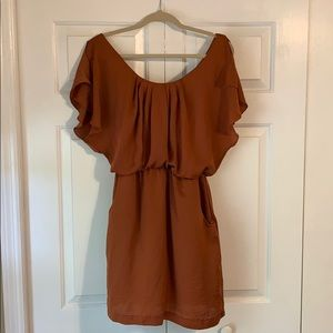 Copper dress with pockets